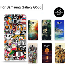 For Samsung Galaxy Grand Prime Soft Silicon Phone Case Skin TPU Cover for Samsung Galaxy Grand Prime G530 G5308W Skull Pattern(China)