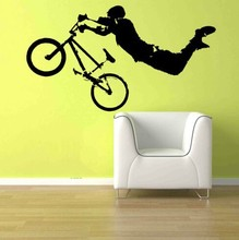 YOYOYU Boy Giant BMX Wall Vinyl Art Mural Decal Home decoration wall Stickers bed room decor(China)