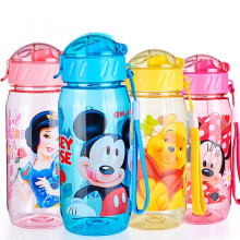 Eco-friendly Kid Kids Drinking Cartoon Water Bottles BPA Free Plastic Straw Bottle Children Bottle Children Kettle Sports Bottle(China)