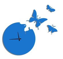Free Shipping Butterfly Wall Clock Home Decor Clock Arts Wall Clock
