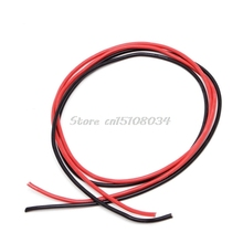 New 14 AWG Silicone Gauge Wire Flexible Copper Stranded Cables For RC Black Red #S018Y# High Quality(China)