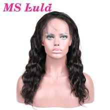MS Lula Brazilian Full Lace Wigs Human Hair With Baby Hair Body Wave 130% Density Remy Free Shipping(China)