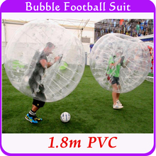 Outdoor Sports Bubble Inflatable Human Hamster Ball 1.8m PVC Body Suit, Bubble Soccer Ball For Adult Tall People Big Size(China)