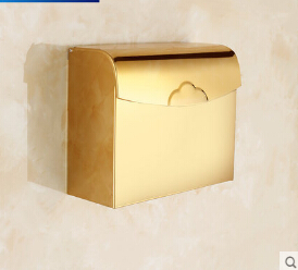 High Quality Paper holder bathroom tissue box waterproof 304 stainless steel toilet paper box bathroom toilet paper roll holder<br><br>Aliexpress