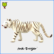 Mr.Froger Bengal White Tiger Model Toy Wild animals toys set Zoo modeling plastic Solid Classic Toy Children Animal Models cute