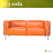U-BEST Cassina Le Corbusier LC 3, 2-Siter,loveseat Couch Sofa designer furniture