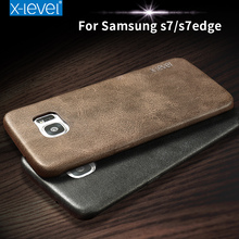 X-Level Luxury Original Brand Leather Cell Phone Bag Case For Samsung Galaxy S7 S7 edge S7edge S8 S8 Plus S8Plus Slim Back Cover
