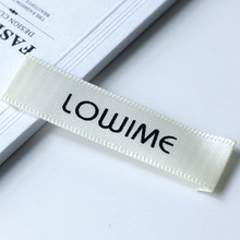 Customized garment labels/woven labels/clothing embroidered tags/LOGO with cut and fold custom clothing hang tag