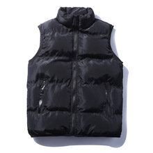 Men's Down Vests 5 Color Winter Jackets Waistcoat Men Fashion Sleeveless Solid Zipper Coat Overcoat Warm Vests Plus Size 2017(China)