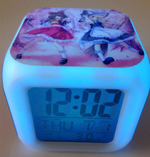 Japan Anime Touhou Project Seven Color Change Glowing Alarm Clock(China)