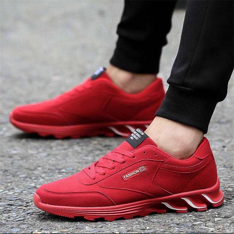 2017 Spring autumn Platform Canvas Sneakers Shoes Canvas Trainers Flat Red chaussure zapato Sport shoes men<br>