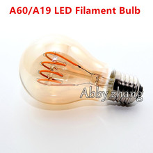 Vintage led edison filament bulb golden A60 ST64 T45G80 G95 Edison bulb led vintage type soft LED filament 4W dimmable E27 Amber