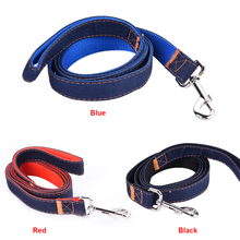 2017 New Convenient and practical Denim Fabric Pet Traction Rope Dog Lead Leash Wearable and fashionable