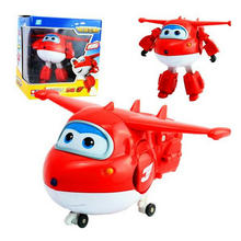 Big!! 15 cm Super Wings ABS Deformation Airplane Robot Action Figures Super Wing Transformation toy for children gift Brinquedos