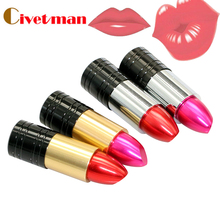 Wholesale full capacity pen drive 2GB 4GB 8GB 16GB 32GB pretty lipstick 2.0 Memory Stick USB Flash Drive Disk(China)