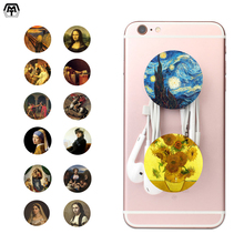 Word's Famous Painting Pattern POP Mobile Phone Socket Finger Holder Ring Portable Airbag Desk Stand for iPhone Samsung Xiaomi(China)