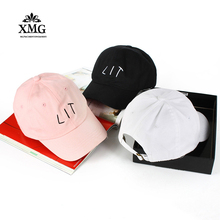 Popular High Quality 100% Cotton 2017 New Fashion LIT Cap for Men Women Hat Baseball Caps Hip Hop Casual Snapback Hat lit Caps(China)