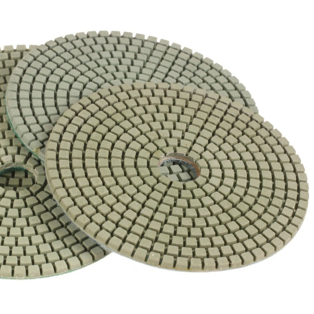 SPTA 3000 Grit Premium Grade Wet 5(125mm) Diamond Polishing Pads Set For Wet Polisher Granite Marble Stone Polish Pack Of 4Pcs<br><br>Aliexpress