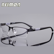 Spectacle Frame Silhouette Eyeglasses Men Computer Optical Eye Glasses Frame For Male Transparent Lens Armacao Oculos de RS077