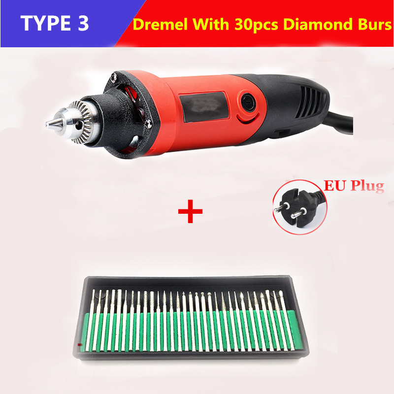 400W 220V Dremel Accessories Variable Speed Electric Mini rotary Grinder+10Pcs 80 Grit Sanding Bands Dremel Rotary Tool<br><br>Aliexpress