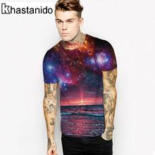 Nice Ocean Night Piece Space 3d Print T Shirt Men Short Sleeve O-Neck Tees Casual Summer Tops Plus Size Couple Clothes Punk