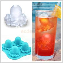 Octopus Shape Ice Cube Tray Pudding Silicone DIY Mould Home Kitchen Supplies