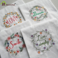 HAKOONA Brand Super-Absorbent Embroidered Glass Towel Upscale Home Cloth Table Napkins Hand & Bath  Baby  Kitchen Towel 45*70cm