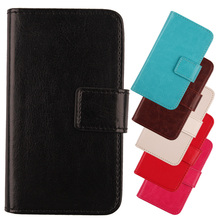 LINGWUZHE Popular Pure Colors Cell Phone Accessories Case For ZTE Blade L3 Plus Flip PU Leather Cover With Card Wallet Slot(China)