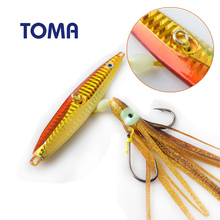 TOMA Metal Jigging Spoon Fishing Lure 10cm 100g Squid lure Hook Artificial Bait Boat Fishing Jig Lures Lead Fish Bass Lure(China)