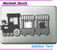 Cute Mini Toy Train for apple Logo Creative Sticker for Macbook Skin Air 11 13 Pro 13 15 17 Retina Laptop Computer Vinyl Decal