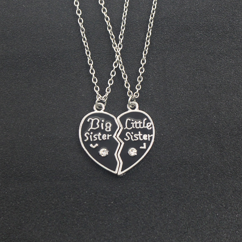 BFF Necklaces (several styles) sister black heart