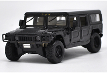 * Black 1:27 Hummer H1 4-Door Wagon Offer Road Diecast Model Car Muscle Car Modell