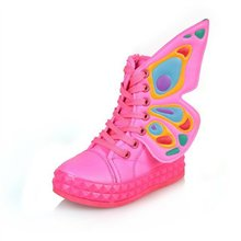 HOT Selling High Top Children Shoes,New Autumn Child Boots, Spring Boys Girls Sneakers Butterfly Wings Kids Canvas Shoes CSH012