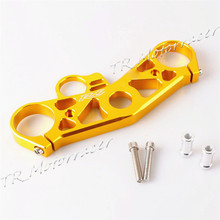 Lowering Triple Tree Front End Upper Top Clamp For Yamaha YZF R6 2008 2009 Gold