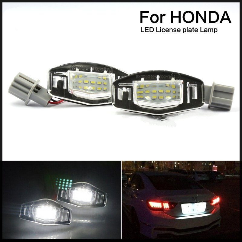 Universal 12V 18LED License Plate Lights Lamp For Honda/Accord/Odyssey/Acura/TSX/Civic<br><br>Aliexpress