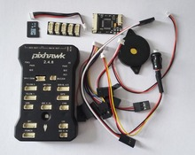 Pixhawk 2.4.8 PX4 Autopilot PIX 32Bit Flight Controller with Safety Switch &Buzzer/ 4GB T-F Card / I2C / PPM Recoder /Cables(China)
