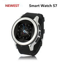 2017 High-tech Inteligente Android Smartwatch WIFI GPS Waterproof Watches Men S7 Smart Watch For Cell Phone Wristwatch Free Ship(China)