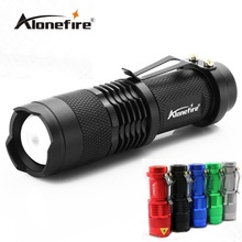 2017 Alonefire SK68 3Modes LED Flashlight 2000lm Zoomable mini portable torch for Camping Security Tactical Use AA/14500 battery