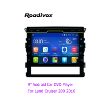 "Android Quad-core 2 din 9"" Car DVD Player To yota Land Cruiser 200 2016 HD 1024*600 landcruiser Touch screen WIFI DVR Mirroring"