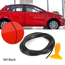 Car Styling Door Protection Strips Rubber Edge Doors Moldings Side Protector Sticker Scratches Vehicle Auto Car Molding(China)