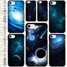 Deep Blue Space Black Scrub Case Cover Shell for iPhone Apple 4 4s 5 5s SE 5c 6 6s 7 Plus(China)