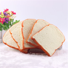 4Pcs PU Toast Artificial Fake Bread Piece Ornaments Home Decor Wedding Birthday Party Home Dining Table Decorations