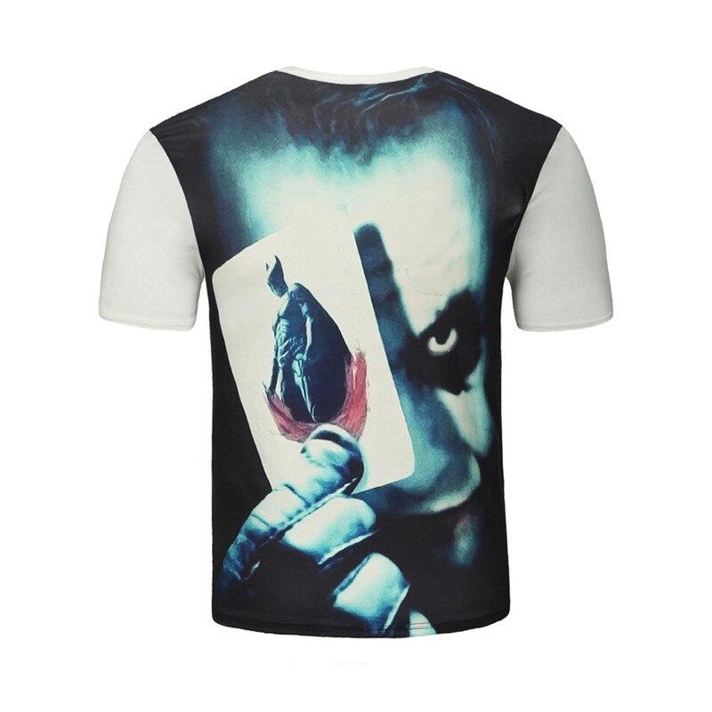 Men Women 3d T shirt Clown Print Short Sleeve T-shirt Men Fashion Brand Digital Printing Summer Round Collar Tops Tees Plus Size 5