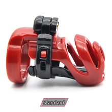 Buy New Design Standard Male Chastity Device Cock Cage Penis Lock Penis Cage 4 Size Penis Rings Chastity Belt Sex Product A358