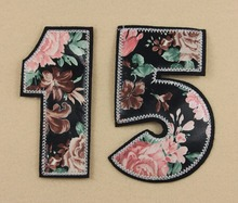 2Pcs 1and 5 printed digital patch clothing  accessories  hot patch for Clothes/Bag Applique Diy Accessory free shipping