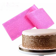 Silicone Mold Cake Lace Mats Mold Silicone Lace Mat Fondant Cake Decorating Tools Wedding Flower Embossing Mould Bakery K001