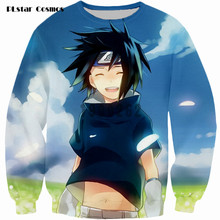 PLstar Cosmos brand Harajuku Sweatshirt Uchiha Sasuke Sweats Women Men Japanese anime Jumper Tops Outfits Drop shipping
