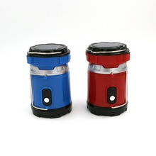 Blue/Red High Quality 2 Modes LED Hand Lamp Rechargeable Collapsible Solar Camping Lantern Tent Lights For Outdoor Lighting