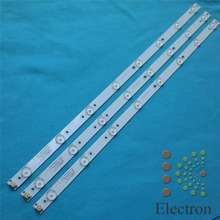 32'' 613mm*17mm 8leds 2pin TV Panel Backlight Lamps LED Strips w/ Optical Lens Fliter New 2pcs/lot