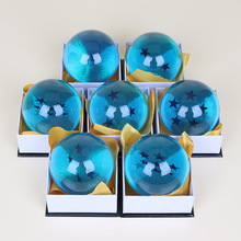 7cm 7pcs/lot Dragon Ball Z Figure Blue Dragon ball crystal ball material resin action figure Model Toy